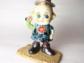 キューピー I am God / 陶芸家/ 現代陶芸/子供アート/オブジェ/ceramic sculptureの画像