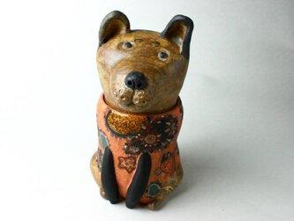 日本の犬の陶箱 / 陶芸作品 /  犬箱 /犬陶器 / contemporary ceramic art /犬アートの画像