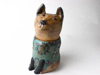 日本の犬の陶箱 / 陶芸作品 / 犬陶器 /犬箱/contemporary ceramic art / 犬アートの画像