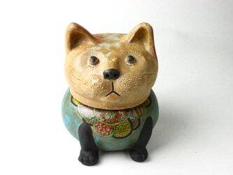 日本の猫の陶箱 / 陶芸作品 /  猫陶器 /contemporary ceramic art / 猫アートの画像