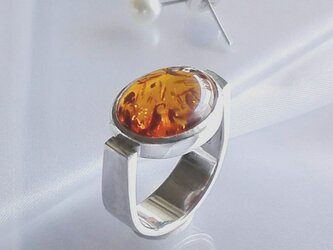 Oval Amber Ringの画像