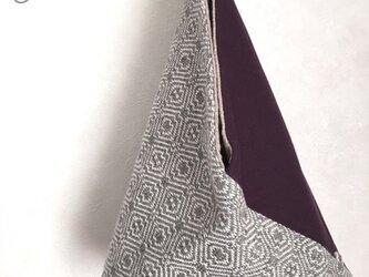 手織り あずま袋ミニバックの画像
