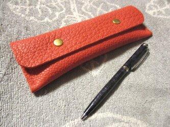 くたっと柔らか トリヨンのシンプルな手縫いペンケースの画像