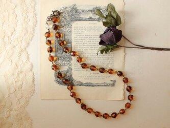 2way ◆ クラシック・セピア浪漫 ネックレス vintageの画像