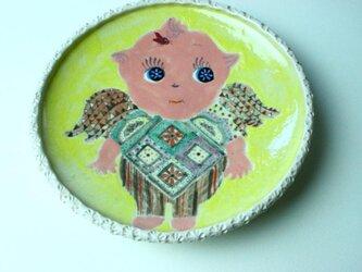 天使の羽の子供食器/ 陶器/ 陶芸家/ 可愛いこども食器/ cute ceramicの画像