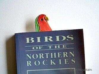 コザクラインコ インコグッズ 革 インコ しおり 鳥の画像