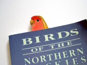 コザクラインコ インコグッズ 革 インコ しおり 鳥 鳥グッズの画像
