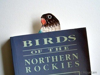 ブルーボタンインコ インコ しおり 鳥 レザー 革の画像