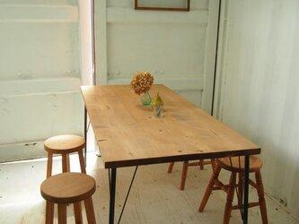 アイアン脚■ダイニングテーブル【1500×800】(ミディアム)の画像