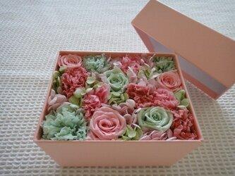 PINK フラワーBOX(ピンク×緑 mix)の画像