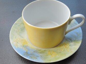 ミモザのテイーカップ&ソーサーの画像