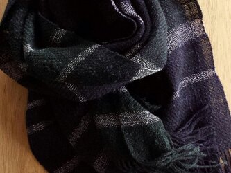 【手織り】シルクウールスラブストールの画像
