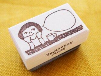消しゴムはんこ「カフェ☆ガール」の画像