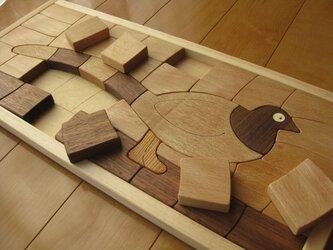 木製パズル(山鳥)大の画像