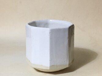 T026 白釉八角湯呑の画像