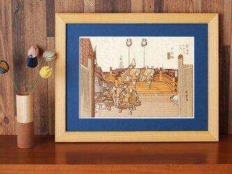 木はり絵「日本橋 朝之景」の画像
