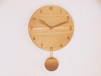 振り子時計 タモ材1の画像