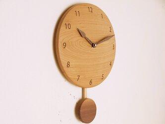 振り子時計 栗材4の画像