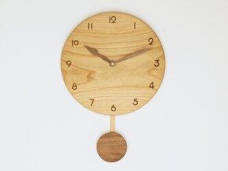 木製 振り子時計 栗材9の画像