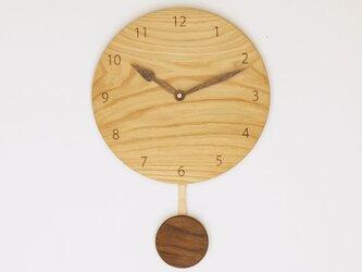 木製 振り子時計 栗材10の画像
