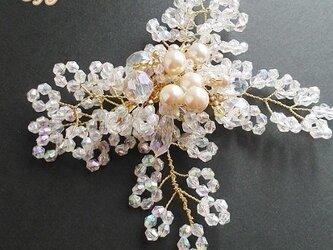りぼんコサージュ・ブローチ(オーロラクリアA)の画像