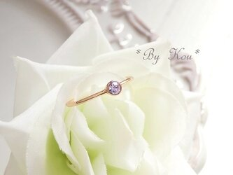 ღアレキサンドライトღsimplest ring。<PG#10/受注制作>の画像