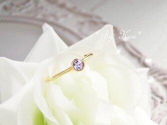 ღアレキサンドライトღsimplest ring。<G#13/受注制作>の画像
