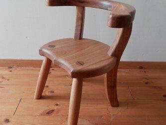 小椅子 ch1110 クルミ 子ども椅子の画像
