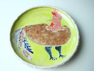 オシャレな鶏の子供食器/ プレート皿/ 陶器/ 陶芸/ かわいい食器/cute ceramicの画像