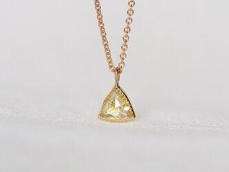 Champagne Yellow Diamond Necklaceの画像