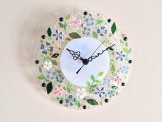 【即納】壁掛け時計(ホリデーフラワー)の画像