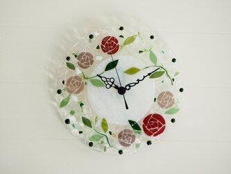 【即納】壁掛け時計(カラーローズ)の画像