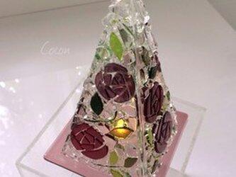 【オーダー制作】LEDキャンドルのミニランプ(カラーローズ)の画像