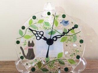 【即納】ミニ壁掛け時計(森の小道)の画像