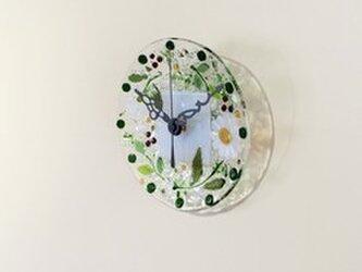 【即納】ミニ壁掛け時計(マーガレット・ホワイト)の画像