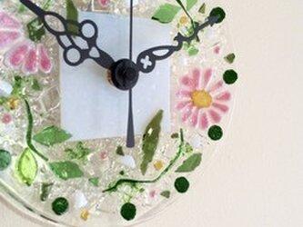 【オーダー制作】ミニ壁掛け時計(マーガレット・ピンク)の画像