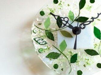 【即納】ミニ壁掛け時計(リーフ)の画像