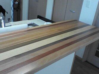 キッチンカウンターテーブル(寄木)の画像