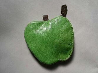 リンゴのコインケース(黄緑)の画像