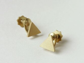 (BRASS) TINY-TRIANGLE EARRINGSの画像