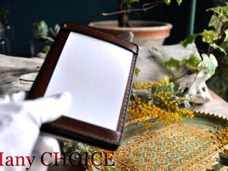 革の宝石ルガトー・ジョッターケース (5×3サイズ)(茶)の画像