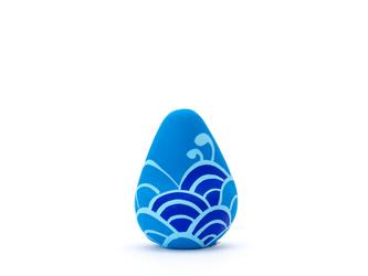 願い玉(青海波文様)青の画像