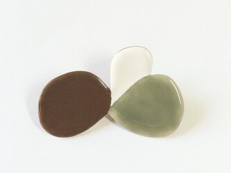 BUTTERFLY brooch (brown)の画像