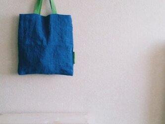 おつかいbag リバーシブル 青.緑の画像