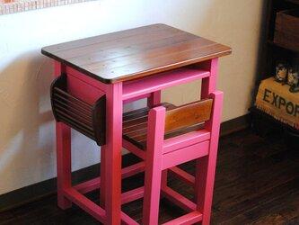 ☆大人の為のローズピンク♪机と椅子セット★秘密の扉★の画像