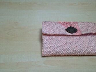 春色 絞りの羽織から蛇腹カードケース&通帳等ポケット付き 伍(5)の画像