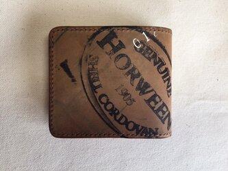 ホーウィンシェルコードバン ショート ウォレット(Horween)の画像