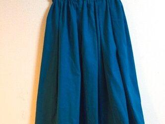 cottonリネンのギャザースカートの画像