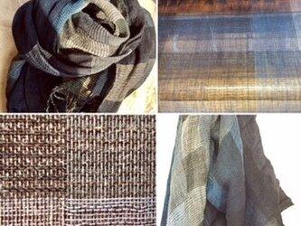 ❐手織り/myバスケット/リネン・ウール・シルクストールの画像