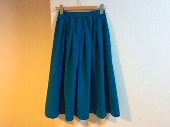 【ゆったりサイズ】cottonリネンのロングスカートの画像